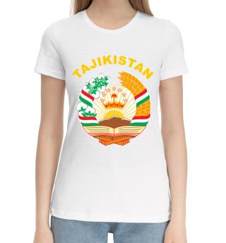 Женская хлопковая футболка Tajikistan