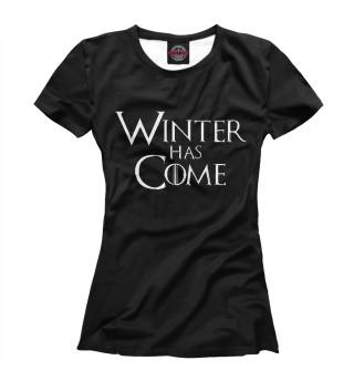 Женская футболка Зима Пришла