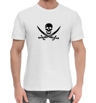 Мужская хлопковая футболка Веселый роджер