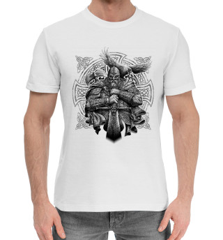 Мужская хлопковая футболка Воин