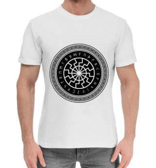 Мужская хлопковая футболка Черное солнце