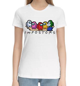 Женская хлопковая футболка Among Us