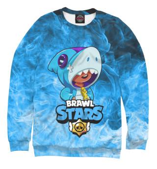 Свитшот для мальчиков Brawl Stars Leon Shark