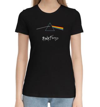 Женская хлопковая футболка Pink Floyd