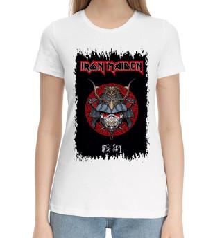 Женская хлопковая футболка Iron Maiden