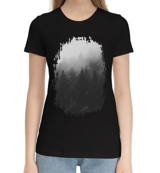 Женская хлопковая футболка Лес