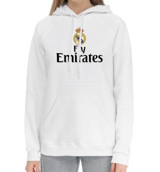 Женский хлопковый худи Форма Реал Мадрид